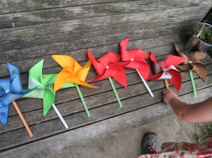 Pinwheels at the park!