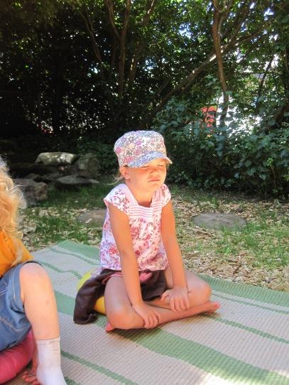Lucia meditating