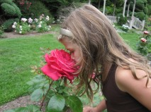 Lucia found a giant rose