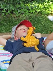 Johann relaxing