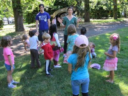Paige Barnes teaches creative movement