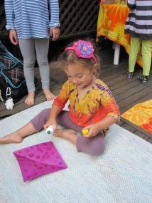Safra loves purple!