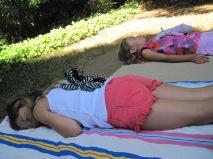 Relaxing girls.